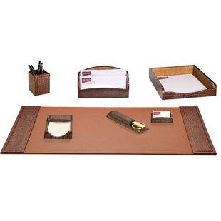 Crocodile Embossed 7 Piece Desk Set By Dacasso