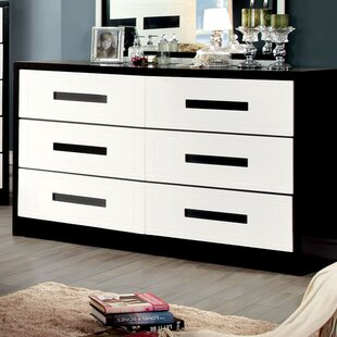 Hokku Designs Verzaci 6 Drawer Double Dresser