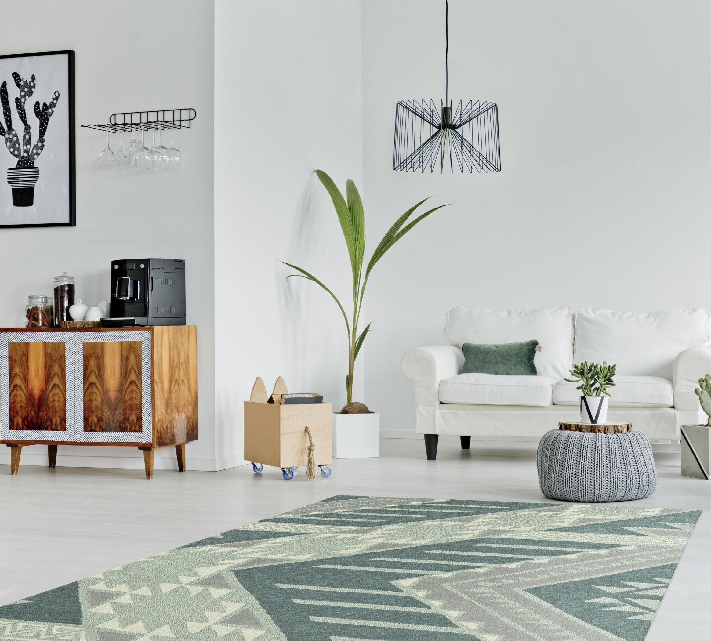 Wrought Studio Hinton Charterhouse Hand Tufted Wool Mint Area Rug Reviews Wayfair