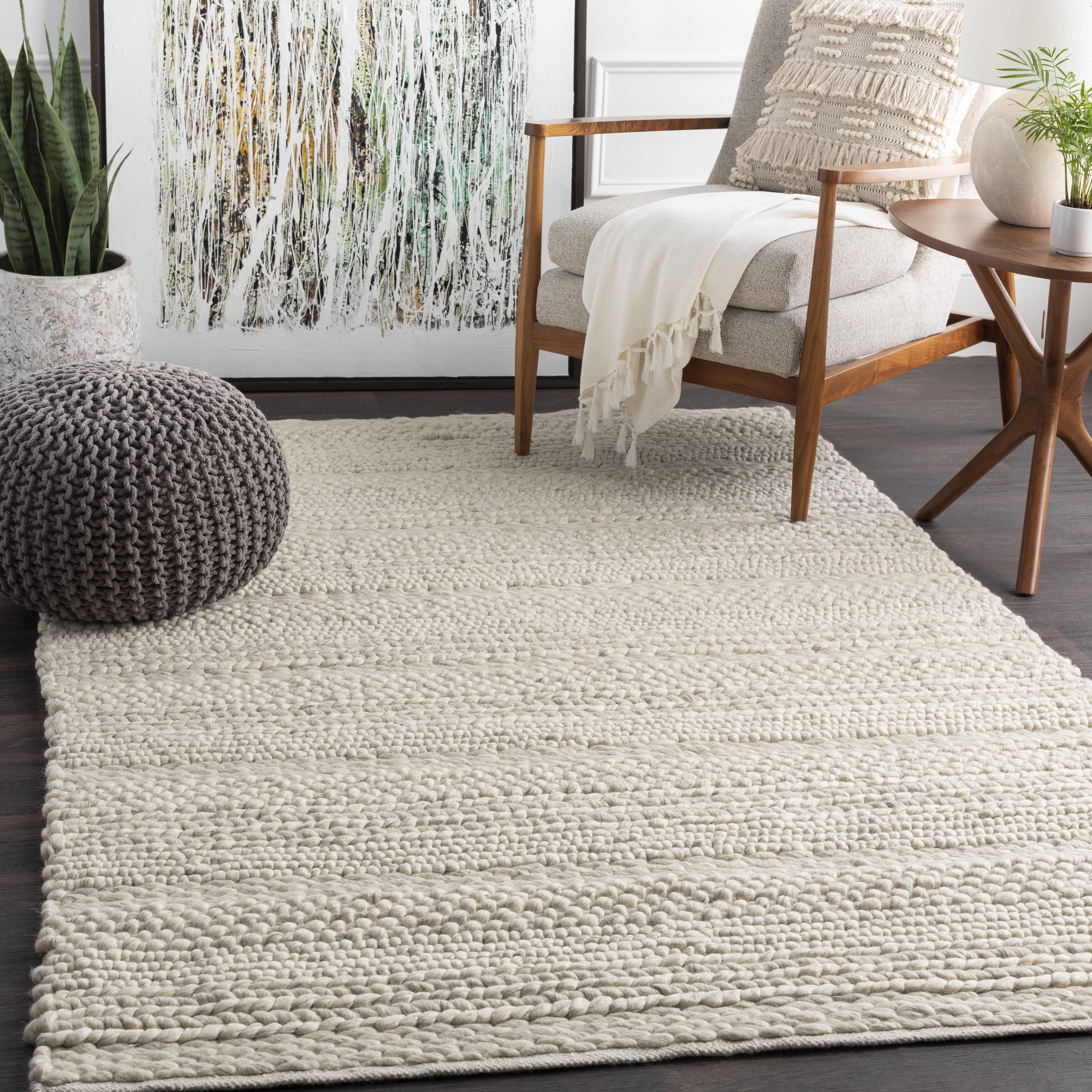 Jocelyn Handmade Flatweave Wool White