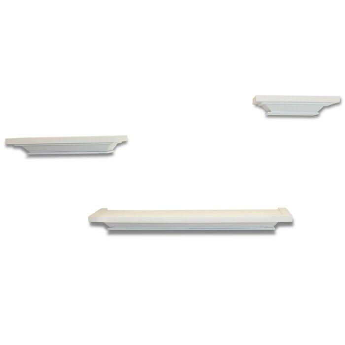 3 Piece Wall Ledge Floating Shelf Set