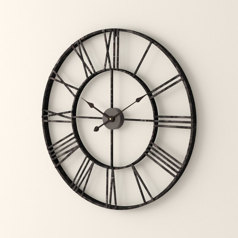 Oversized Eisenhauer Wall Clock Reviews Joss Main
