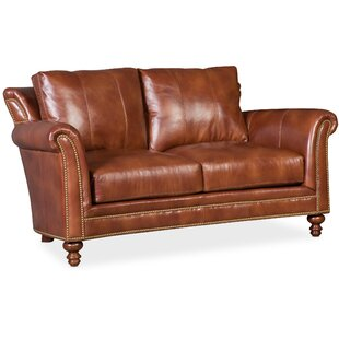 Richardson Leather Loveseat by Bradington-Young