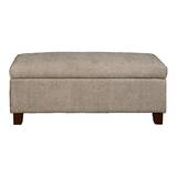 Roper Hinged Top Aldo Overcast Upholstered Storage Bench by Wrought Studio