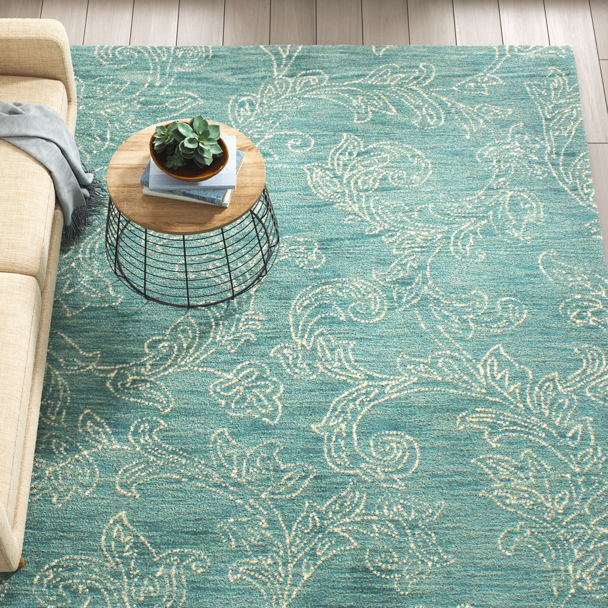 Blue Tufted Area Rugs You Ll Love In 2021 Wayfair