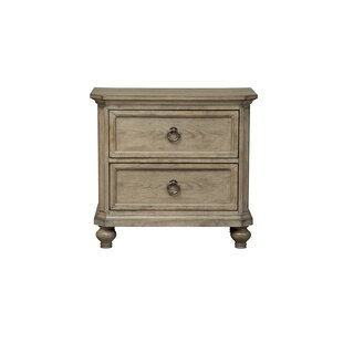 Comparison Piscium 2 Drawer Nightstand by One Allium Way