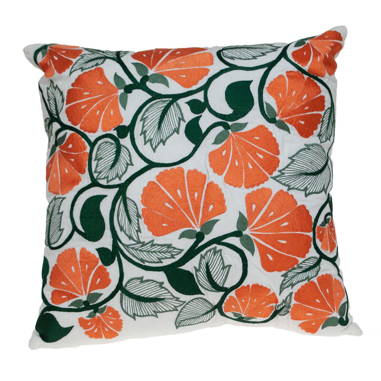August Grove Hueytown Down Floral Throw Pillow Wayfair