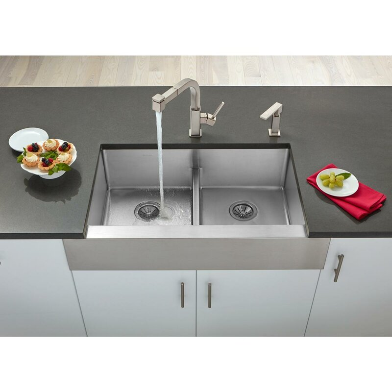 Elkay crosstown 36 x 20 double basin farmhouse kitchen sink crosstown 36 x 20 double basin farmhouse kitchen sink workwithnaturefo