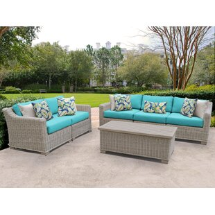 Coast 6 Piece Sofa Seating Group with Cushions