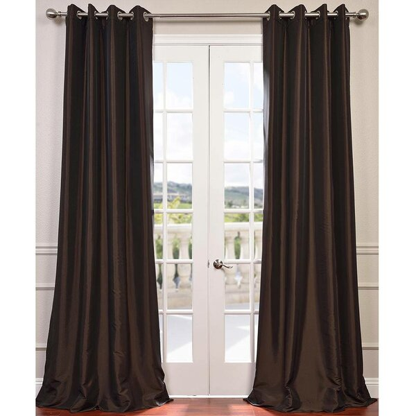 Darby Home Co Shelly Solid Faux Silk Taffeta Thermal Grommet