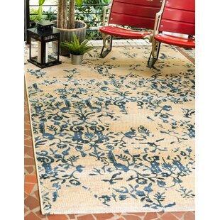 Eris Floral and Plants Beige Indoor/Outdoor Area Rug