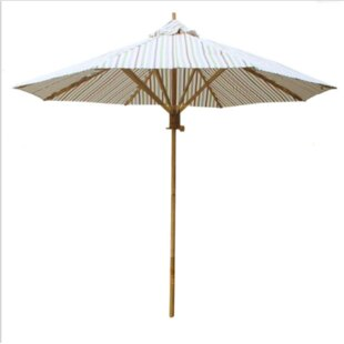 Rosecliff Heights Sandlewood Bamboo 7' Beach Umbrella