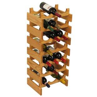 Wooden Mallet Dakota 21 Bottle Floor Wine Rack