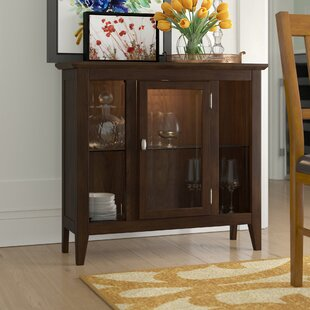 Charlton Home Gilboa Entryway Lighted Console Curio Cabinet