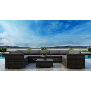Gilleland 10 Piece Sectional Set with Sunbrella Cushion by Orren Ellis