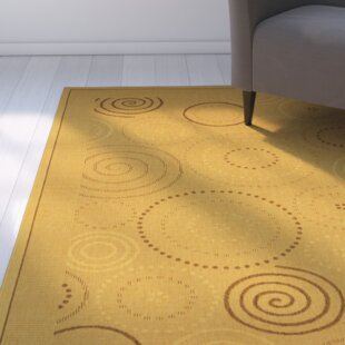 Find for Mullen Geometric Circles Indoor/Outdoor Area Rug Good purchase
