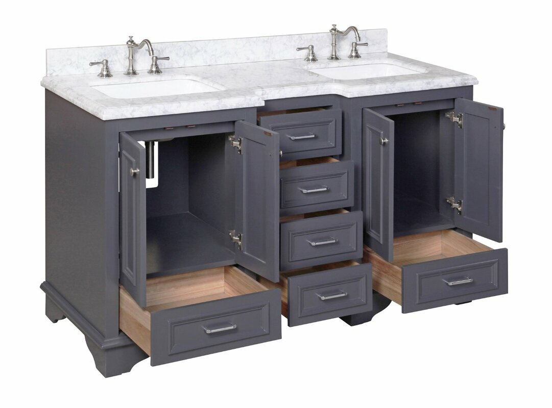 sink for bathroom vanity. Nantucket 60  Double Sink Bathroom Vanity Set KBC Reviews Wayfair