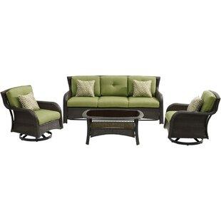 Asherman 4 Piece Conversation Set with Cushions