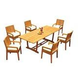 Maskell 7 Piece Teak Dining Set