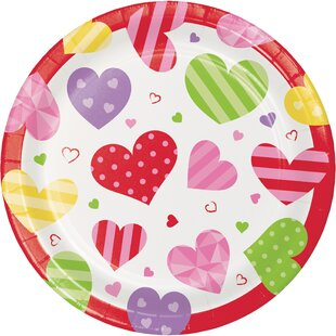 Hollandale Hearts Paper Disposable Appetizer Plate (Set of 24)