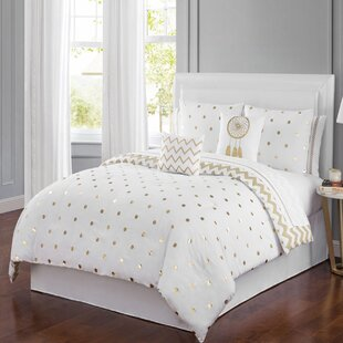 Zaniyah Dot Dreams 6 Piece Comforter Set