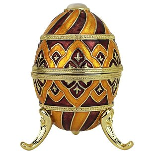 Feodorovna Enameled Egg Decorative Box By Design Toscano