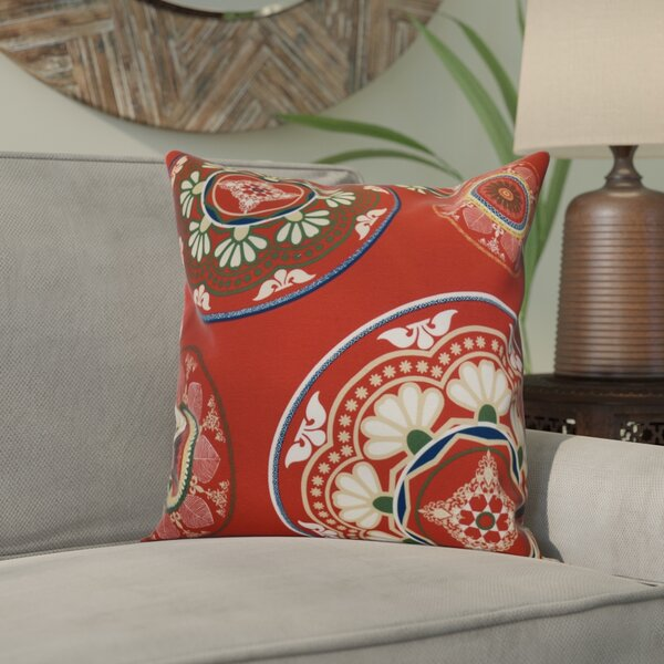 Bungalow Rose Soluri Medallions Outdoor Throw Pillow