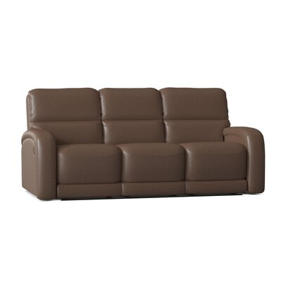 "Fandango 89"""" Pillow Top Arm Reclining Sofa Southern Motion Body Fabric: Pasadena Elk, Reclining Type: Power Plus -  884-31PLUS-24221"