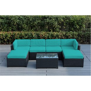 Brough 7 Piece Sectional Set with Cushions By Longshore Tides
