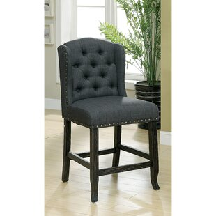 Tennessee Contemporary Counter Height Upholstered Dining Chair (Set of 2) by Darby Home Co