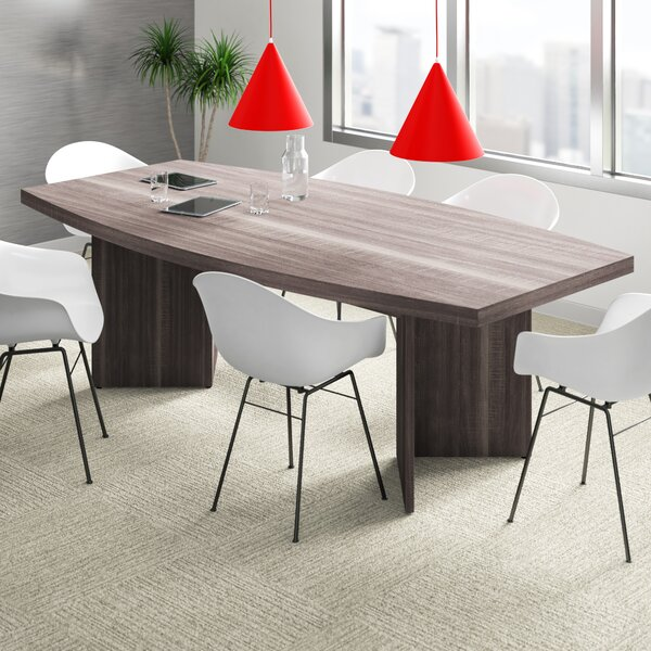 Upper Square™ Ilan Boat Shaped Conference Table & Reviews | Wayfair