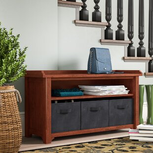 Drakeford Storage Bench with 3 Foldable Fabric Baskets by Charlton Home