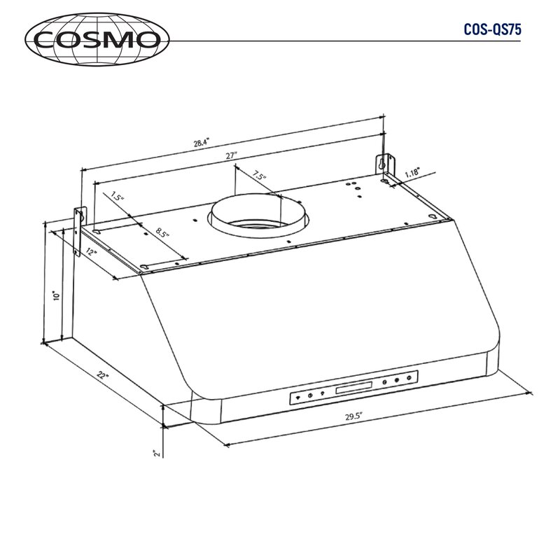 Cosmo 30 900 Cfm Ducted Under Cabinet Range Hood Reviews