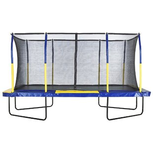 Upper Bounce Spacious Trampoline 15' Rectangular with Safety Enclosure