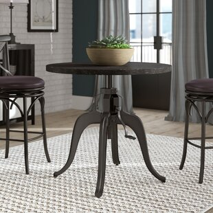 Woodbranch Industrial Crank Adjustable Pub Table by Greyleigh