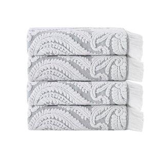 Laina Turkish Cotton Bath Towel (Set Of 4) by Enchante Home Fresh