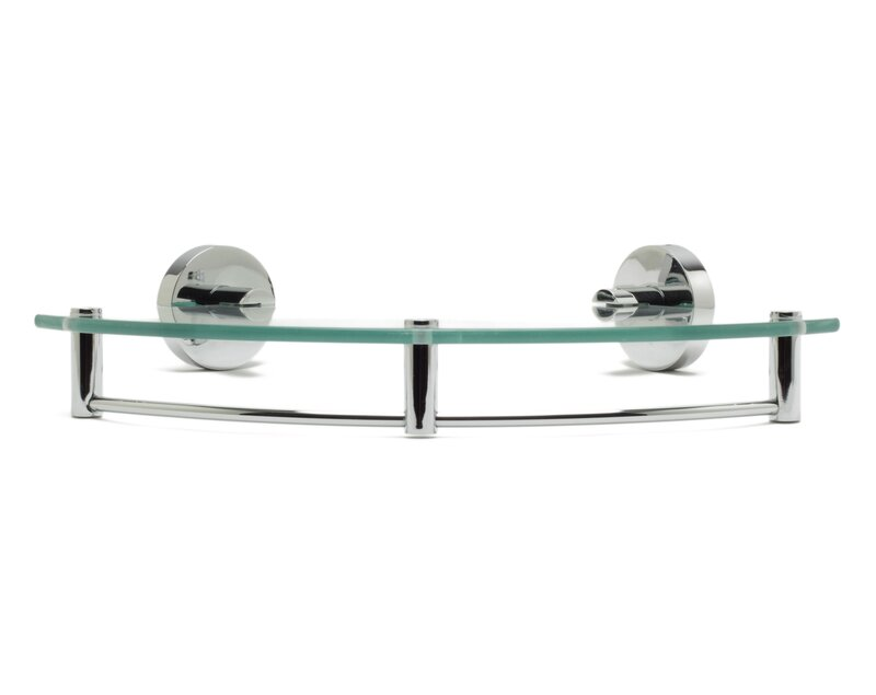 Alfi Brand ALFI brand AB9546 Polished Chrome Corner Mounted Glass ...
