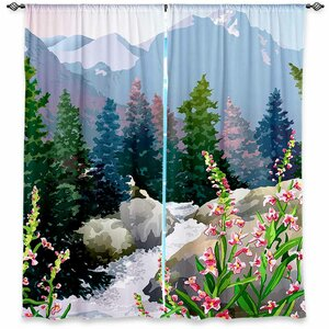 Camilo Anne Gifford's Mountain Stream Nature Room Darkening Curtain Panels (Set of 2)