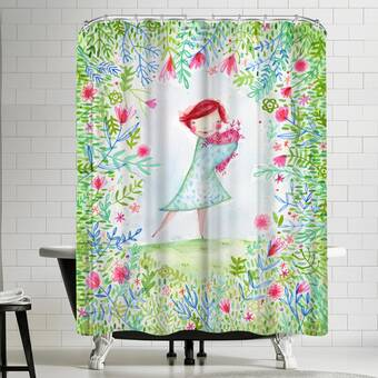 Bay Isle Home Afton On Aqua Single Shower Curtain Wayfair