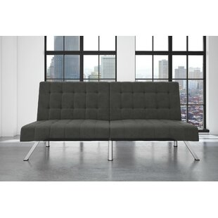 Crandon Velvet Convertible Sofa by Turn o..