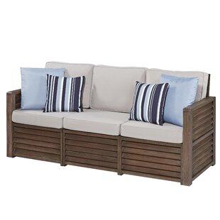 Hollo Deep Patio Sofa with Cushions by Bay Isle Home