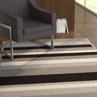 Affordable Covey Stripes Gray/Black Area Rug ByEbern Designs