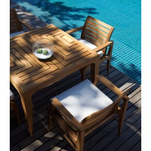 OASIQ Limited 5 Piece Teak Dining Set with Cushions