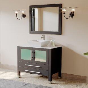 Juniper 35 Single Bathroom Vanity Set with Mirror By Cambridge Plumbing