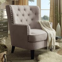 Deals on Laurel Foundry Modern Farmhouse Ivo 30-in Wingback Chair