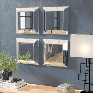 Great Erelina Decorative Square Wall Mirror (Set Of 4)