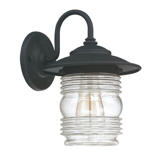 Beachcrest Home Glen 1-Light Outdoor Barn Light