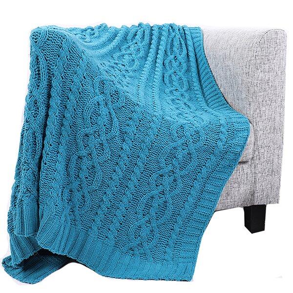 Cotton Chenille Throw Blanket Wayfair