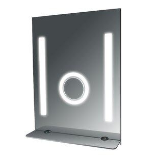 Great Price SteamSpa Tall Fog Free Bathroom Mirror with Glass Shelf BySteam Spa