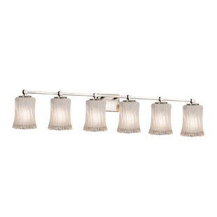 Darby Home Co Meadowland 6-Light Glass Shade Vanity Light